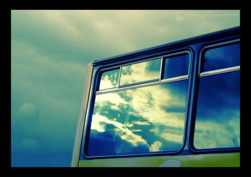 Storm in a Bus Window by grenouille-enchantee