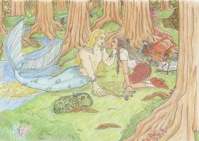 Merman in color by seawaterwitch