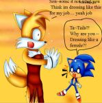Tails is so Gay itscared sonic by WhiteMageTifa
