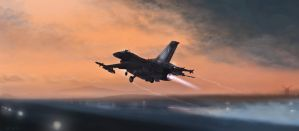 Greek F-16 VIper takes off by rOEN911