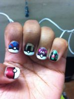 POKE BALL NAILS by Chickenisamazing