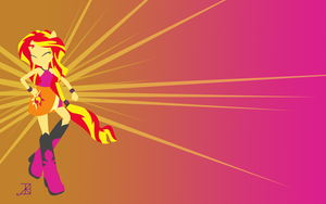 Color Blocks MG Sunset Shimmer Wallpaper by Akili-Amethyst