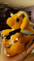 Messanger Dragonite Plushie by Vulpes-Canis