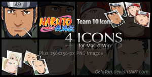 Naruto II Team 10 Icons by GeloTon