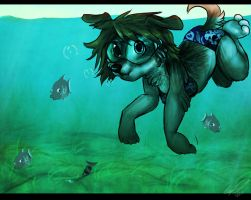 Somewhere under the sea by Imalou