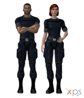 Default Shepard in ME1 Fatigues for XPS by Just-Jasper