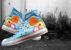 Colour Burst Converse by chpsauce