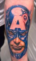 captain america tattoo by graynd