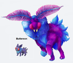 PokeFusion - Buttereon by Pseudo-Strawberry