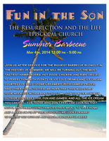 Resurrection and the Life Church Flier: Summer BBQ by MrAngryDog