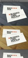business card - mockup 02 by ranfirefly