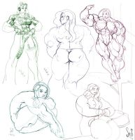 Sketchdump Summer 2010 by Jebriodo