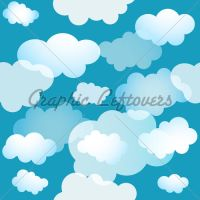 Cloud Seamless Blue Background by kingofvectors