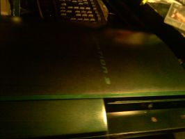green ps3 by alchybear