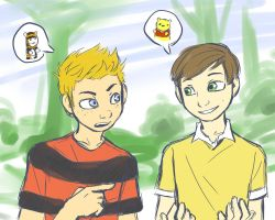 Calvin and Chris by 10yrsy