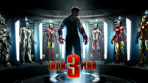 Iron Man 3 Suits of Armor Teaser Wallpaper by portfan