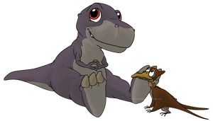 petrie and chomper by meeshmoose