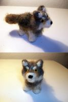 Needle Felt Wolf by StCoraline