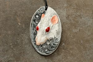 White Rat Pendant by hontor