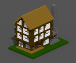 Voxel truss House by Mendelian