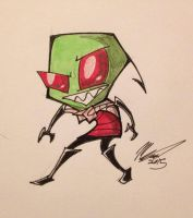 Invader Zim by ThatWeirdDrawinChick