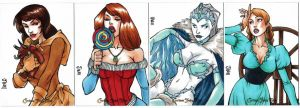 Grimm Fairy Tales Sketch Cards by MyDyingRose