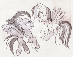 :CM: Flying with Dashie by Star-Sketcher-MLP