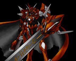 Omnimon X with shade by flumbo
