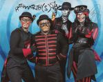 Steam Powered Giraffe photo op with ME!!! by Subject-Delta12