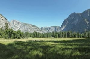 Distant Half Dome by Muffyn-Man