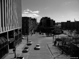 A stuby in bw...Downtown by imonline