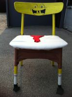 Spongebob squarepants homemade chair by KayaKure
