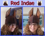 Red Indae Hat by Kai45