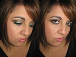 Shimmery Green Makeup by Cinnamoncandy