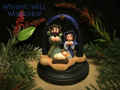 Polymer Clay Nativity by missfinearts