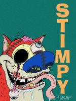 Stimpy by DustyOld-Clock