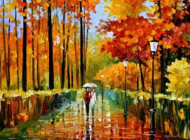 An Autumn Rain by Leonidafremov