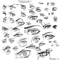 Eyes - sketches by RainSoda