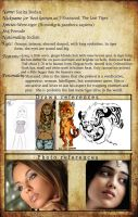 Character sheet - Sharazad by FuriarossaAndMimma