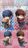 +Ao No Exorcist - Keychains+ by goku-no-baka