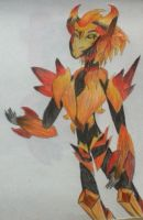 TFP Flamestrike by TheUltimateFangirlXD