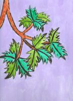 Branch Painting by Lavender-Star
