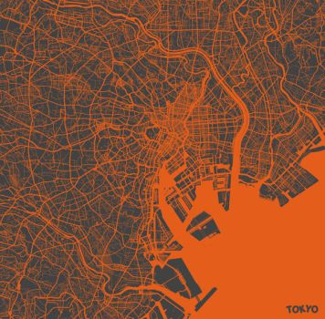 Tokyo by MapMapMaps