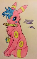 Neon is Ready to Draw by TheNeonUmbreon