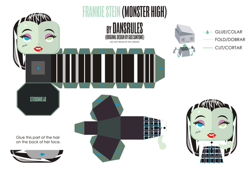 FrankieStein MonsterHigh PaperToy By Dansrules by dansrules