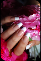 french manicure (natural nails, only nail polish) by Tartofraises