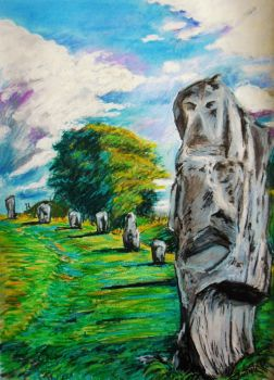 Avebury Stones - An English landscape by BikerDA