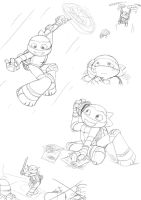 Lots of Mikey by MiniMightyMichelnglo