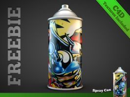 Freebie: Spray can model by The3DLeopard