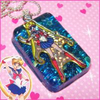 Sailor Moon Resin Necklace by bapity88
